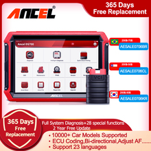 Ancel DS700 OBD2 Diagnostic Tools Professionele Volledige System Bi Directionele Controle Af Passen Dpf Injector Tpms Automotive Scanner