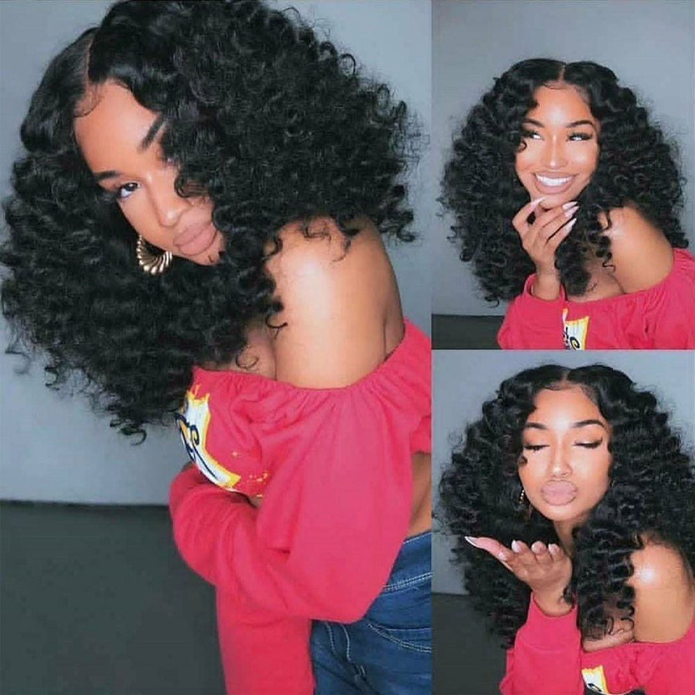 Eversilky 250Density Deep Wave Full Lace Human Hair Wigs With Baby Hair Glueless 13x4 Lace Front Wig PrePlucked 360 Lace Frontal