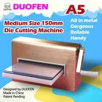 DUOFEN die cutting machine A5 150mm 6inch flower cutting dies stencil embossing machine leather cutting fabric cutting for DIY