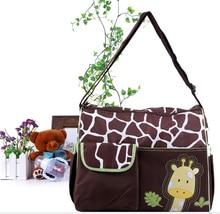 New Fashion Cartoon Giraffe Waterproof Mummy Bag Large Capacity Multi-Function Environmental Variety Of Back Method