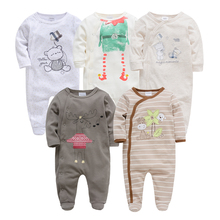 Baby+Clothes Romper Newborn Pajamas Kid Clothing One-Pieces Infant Girl Boy Toddler Footies Cartoon Animal Print Embroidery