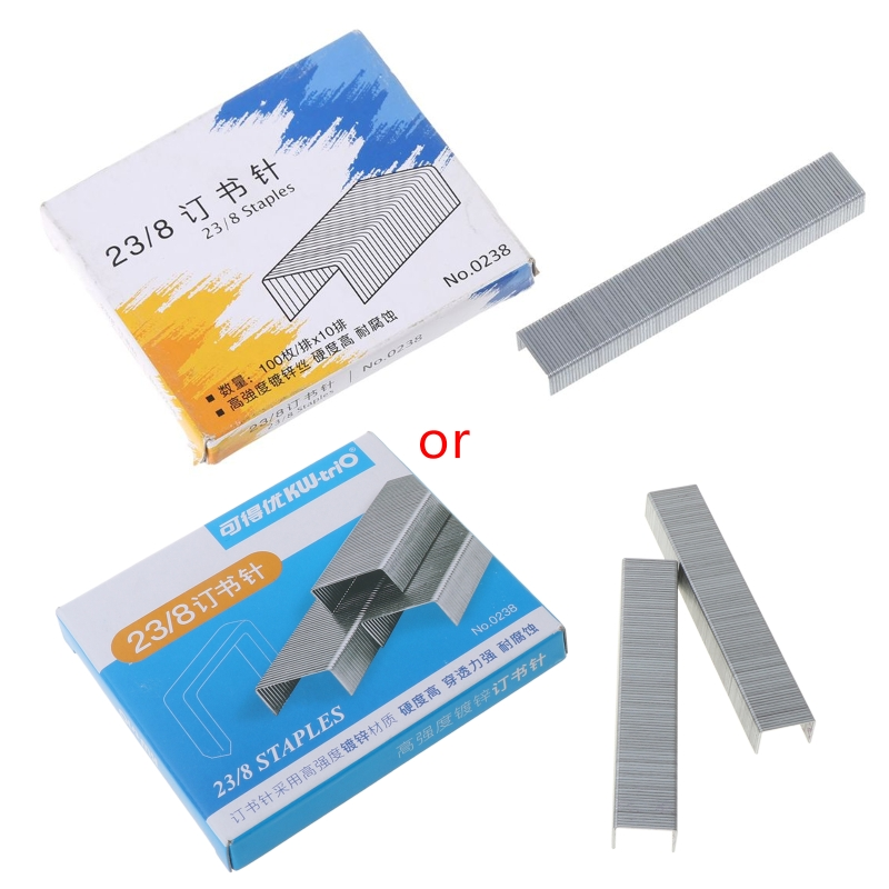 1000Pcs/Box Heavy Duty 23/8 Metal Staples for stapler Office School Supplies Stationery W0YE