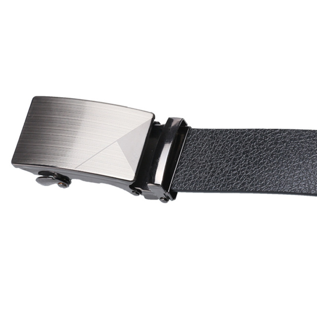 Alloy Buckle Artificial Leather Bark texture Business Casual Belt 4