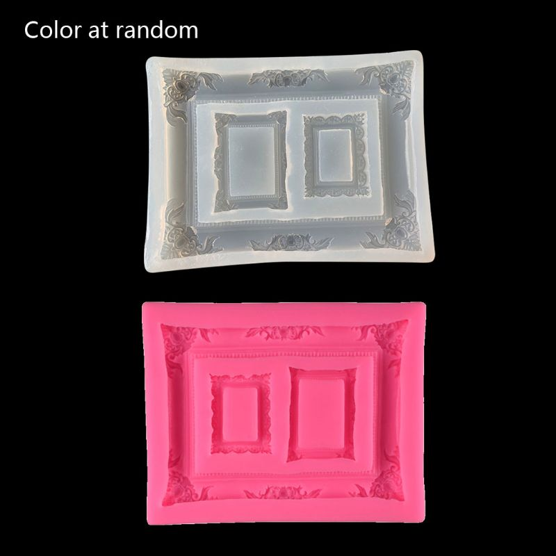 DIY Resin Photo Frame Mold Resin Casting Silicone Mold Jewelry Making Tools