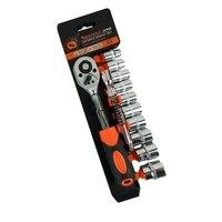 Conjunto de combinação de chave de catraca aço cromado vanádio catraca conjunto chave de soquete kit|Chave ingl.| |  -
