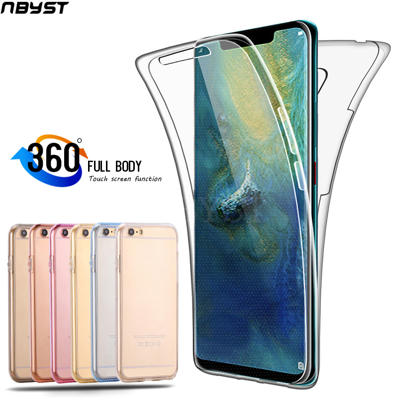 Case 360 Degree Full Body for Huawei P Smart 2019 P10 P20 P30 Pro Mate 10 20 Lite Honor 10i Y5 Y6 Y7 Silicone Cover Bumper Case