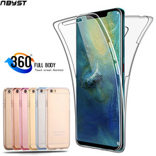 Case 360 Degree Full Body for Huawei P Smart 2019 P10 P20 P30 Pro Mate 10 20 Lite Honor 10i Y5 Y6 Y7 Silicone Cover Bumper Case(China)