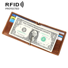 Money Clip man wallet with clip Anti-Magnetic Anti-Scanning Card Wallet RFID money holder Credit Card Holder Birthday gift