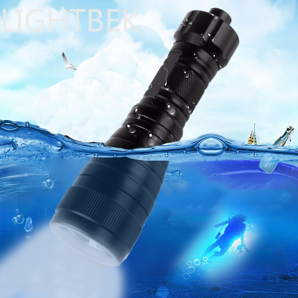 Brinyte Waterproof LED Diving Flashlight High Power Underwater 150m 1050Lm XM-L2(U4) Handheld Torch Lamp for Camping / Hiking