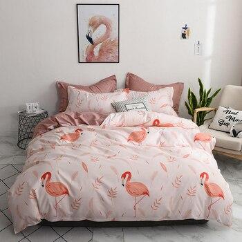 Solstice Bedding Set Peach Flamingo