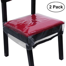Protectors Chair-Covers Dining-Room Transparent Waterproof Removable PVC 2PCS HOMEMAXS