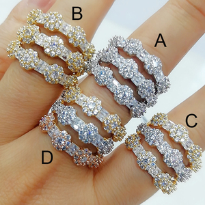 Image 2 - GODKI Luxury 3 Layers Bold Statement Rings with Zirconia Stones 2020 Women Engagement Party Jewelry High Quality