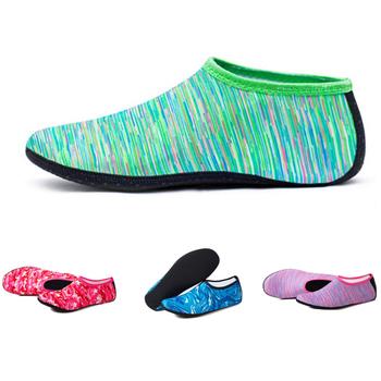 Letnie buty z palcami kobieta buty do wody brodząc buty do wody antypoślizgowe trampki mężczyźni pływanie nurkowanie skarpetki kapcie plażowe trampki tanie i dobre opinie hengsong CN (pochodzenie) WOMEN Dobrze pasuje do rozmiaru wybierz swój normalny rozmiar Spring2019 Wsuwane Początkujący