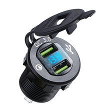Двойной usb адаптер для зарядного устройства светодиодный дисплей