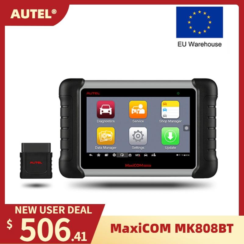 Autel mk808bt obd2 scanner diagnóstico ferramenta automóvel obd 2 leitor de código automotivo odb2 programador chave diagnóstico melhor para lançar x431