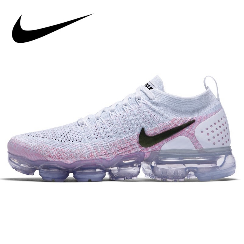 Original NIKE Air Max Vapormax Flyknit Women's Running Shoes Sports Mesh Breathable Waterproof Slow Shock Sneakers 942843-102