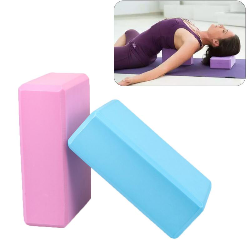 EVA Gym Yoga Block  Foam Brick  Exercise Fitness Bolster Pillow Cushion Stretching Body Shaping Health Training Yoga Props