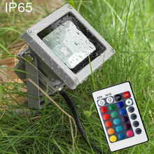 110V 220V 10w/20w/30w RGB LED Flood Light Outdoor Spotlight Waterproof Ip65 LED Landscape Garden Spot Lamp