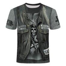 Summer New 3d Skull T shirt Men Short sleeve shirt