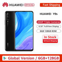 "In stock Premiere Global Version Huawei Y9s 6GB 128GB 48MP Smartphone Triple AI Cameras Auto-Pop Up Front Camera 6.59"" cellphone"