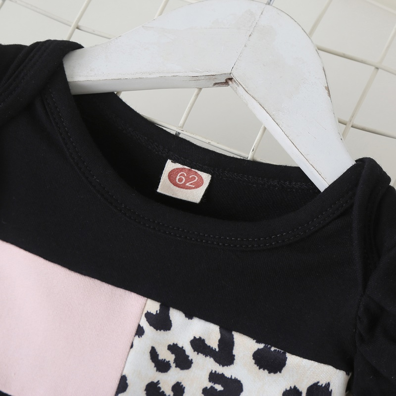 Модное осенне зимнее платье для маленьких девочек Леопардовый