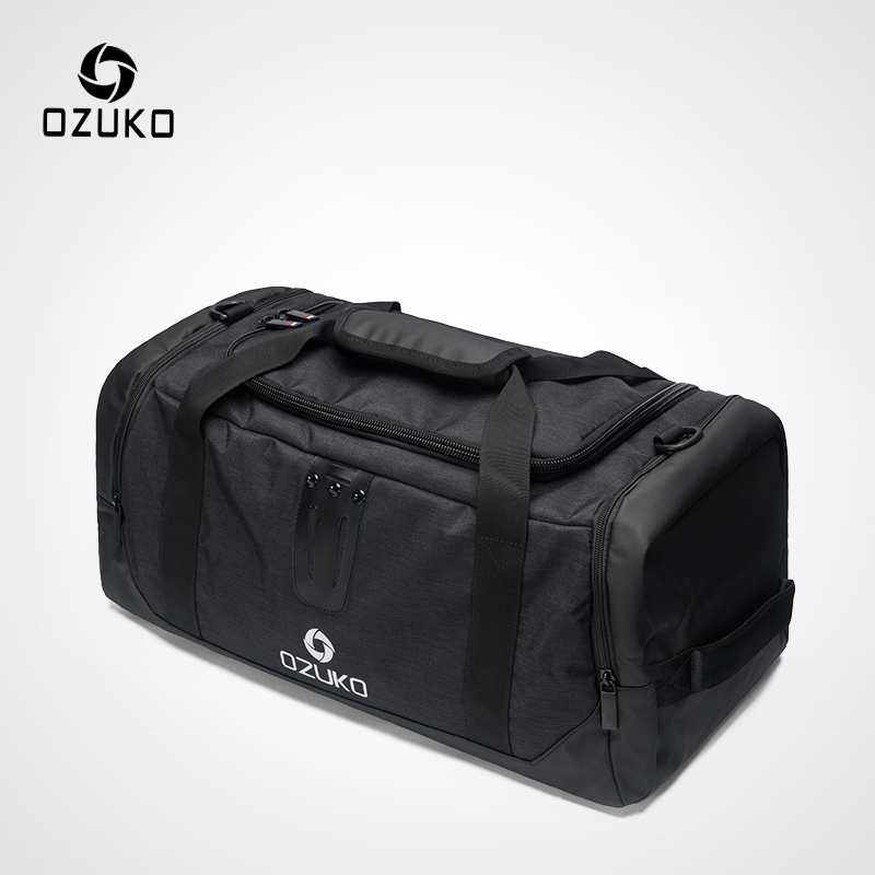 OZUKO 2019 Multifunctional High Capacity Men Travel Duffle Bag Waterproof Oxford Luggage Handbags Carry On Weekend Bags For Trip