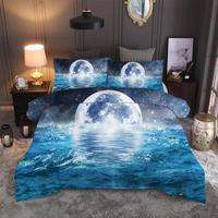 3D Natural Scenery Bed Sheet Duvet Cover Pillowcase 2/3pcs Queen Bedding Sets Home Textile