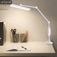 Artpad 12W Clip Tisch Lampe Auf Schreibtisch Lange Drehbare Arm Weiß Schwarz LED 25 Ebenen Dimmen Touch Auge- pflege Lesen Desktop Licht