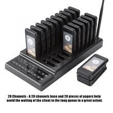 20 каналов, система вызова официанта для ресторана, система беспроводной подкачки, система для ресторана, кофейни, системы организации очередей