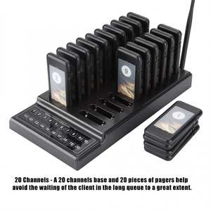 20 Channels Restaurant Pager Waiter Calling System Wireless Paging Queue System for Restaurant