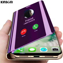 KINBOM Mirror Flip Smart Case For Huawei Mate 20 10 9 pro Cover Lite NOVA 3I 3 4 protect