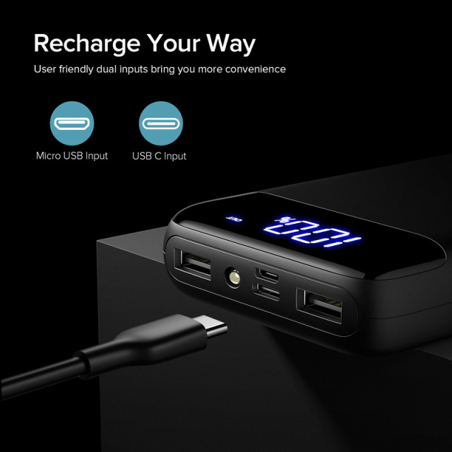 Portable Charging PowerBank External Battery Mobile Phone Charger for iPhone and Xiaomi