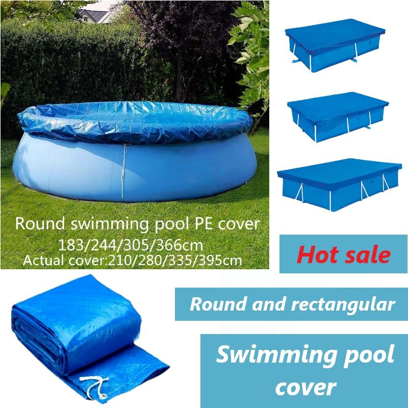 대형 수영장 커버 천 브래킷 풀 커버 풍선 수영장 먼지 커버 야외 정원에 대한 기저귀 라운드 PE