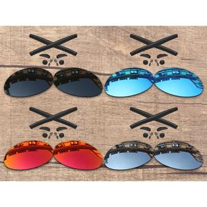 Vonxyz 20+ Color Choices Polarized Replacement Lenses & Nose Pads Ear Socks Rubber Kit for-Oakley Romeo 1Frame
