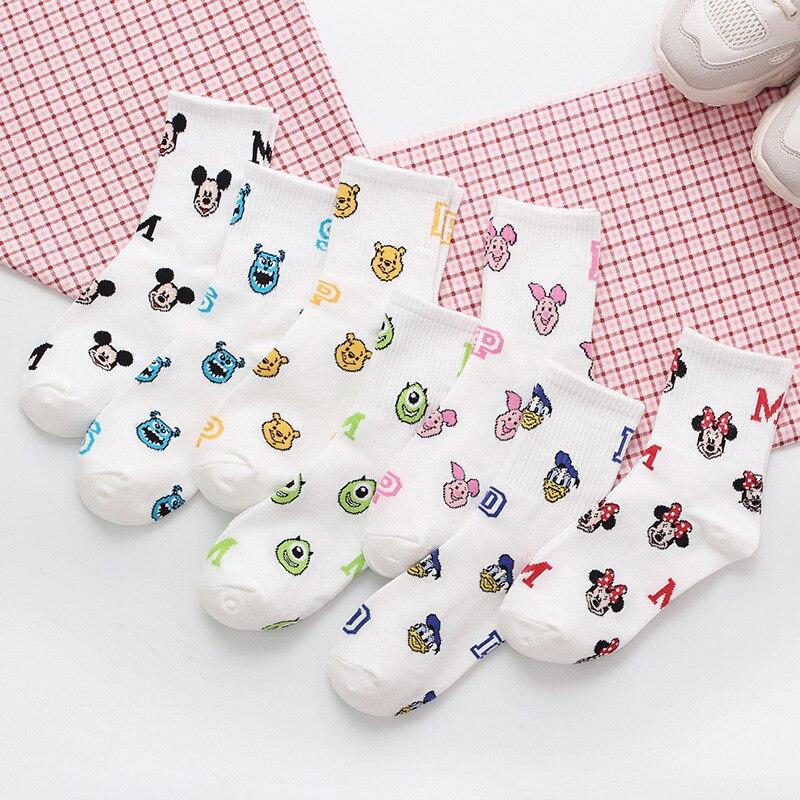 Korea Style Women Socks Cartoon Animal Mouse Socks Cute Kawaii Short Socks Cotton Funny Socks Girl Boat Socks