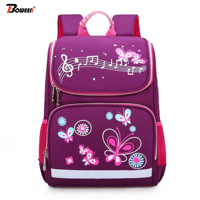 1-5 Grade Kids School Bags Children Backpack School For Boys Girls School Backpack Child Waterproof Big Butterfly Backpack Kids