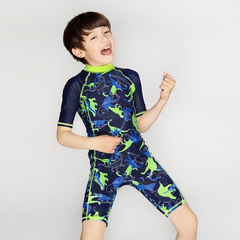 Julysand Boys Swimwear High-end One Piece BathingSuit Children Dinosaurs Cartoon printed SwimSuit UV protection  Boy Rash Guards