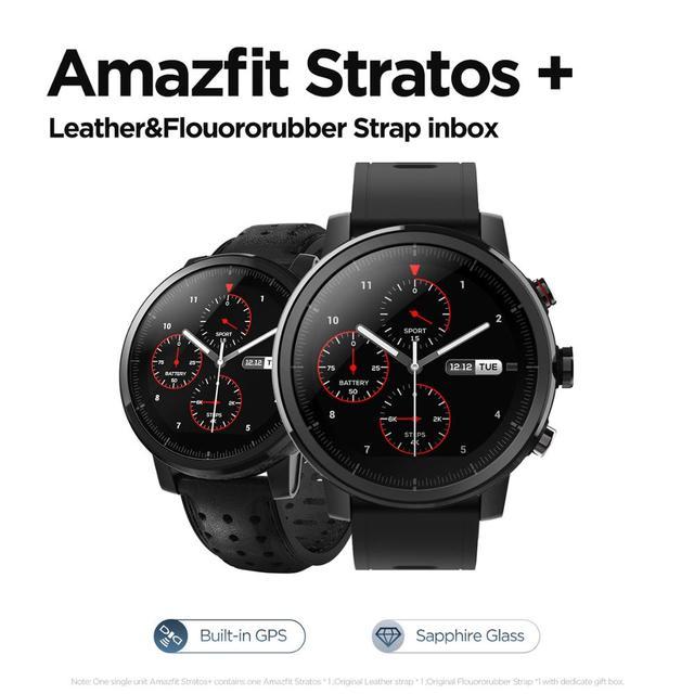 Xiaomi Amazfit Stratos 2s Professional Smart Watch Genuine Leather Strap 6