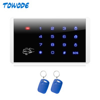 TOWODE-teclado inalámbrico K16 RFID, sistema de alarma de desmontaje, teclado de pantalla táctil para W18 G18 K52 W20 W2, sistema de alarma de seguridad para el hogar