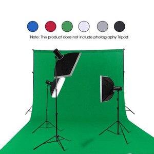 Image 3 - צילום רקע רקע חלק מוסלין כותנה ירוק מסך Cromakey בד רקע תמונה סטודיו וידאו תמונה