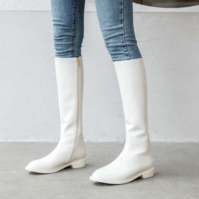 flat white boots cheap online
