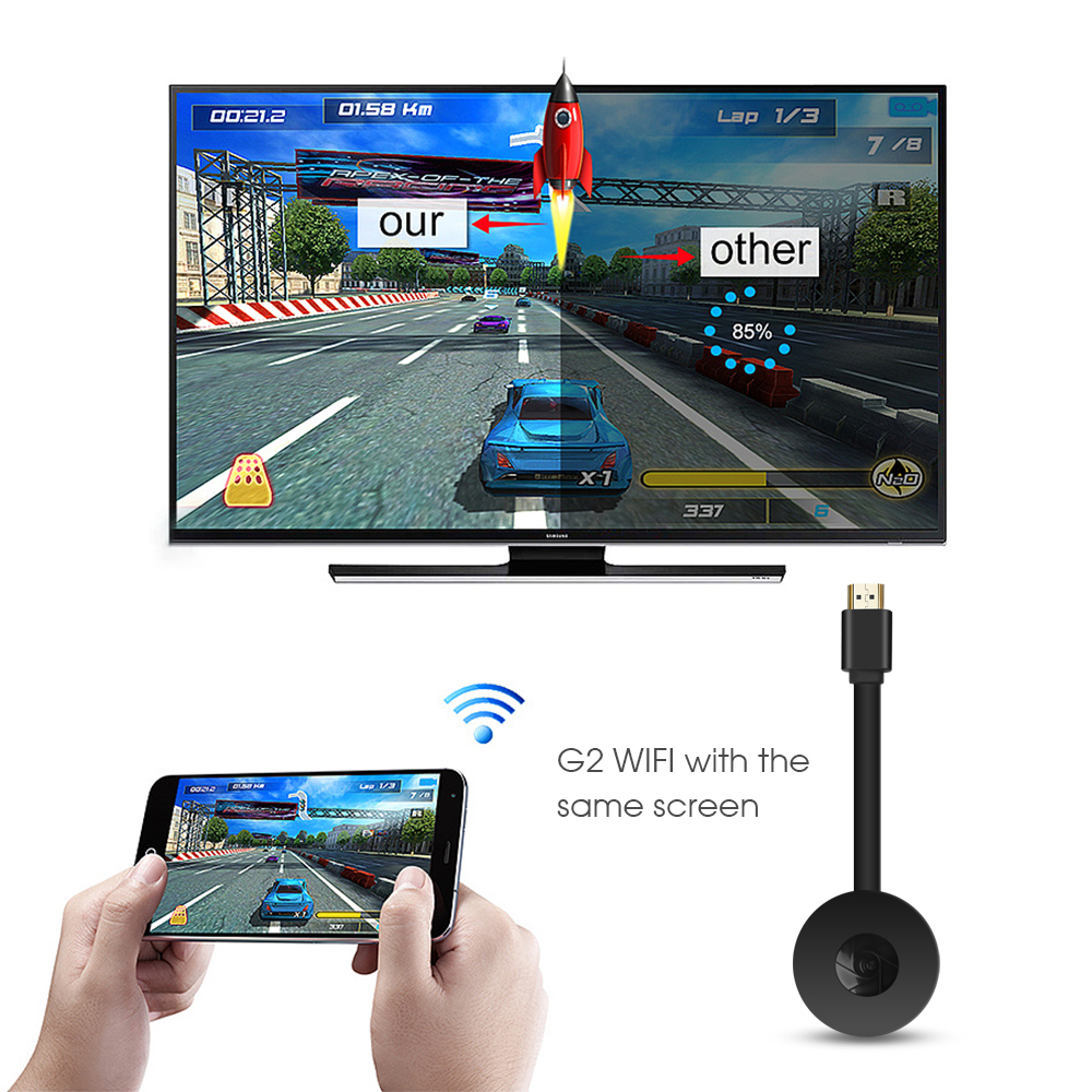lowest price MiraScreen TV Stick Dongle HDMI Wireless WiFi Display Receiver for Miracast G2 Phone IOS Android TV Projector