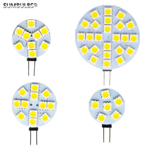 G4 Socket 5050 SMD led bulb AC DC 12V Replace Halogen Bi-pin Lamp LED Bulb 1.2W 1.8W 2.4W 4.8W Warm cold led lights