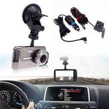 1 комплект Универсальный Автомобильный Двойной объектив видеорегистратор