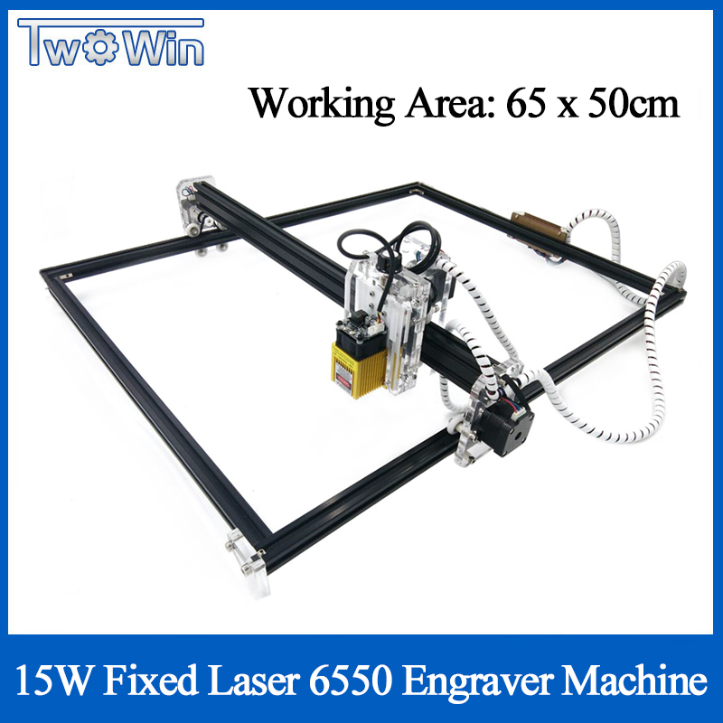 15W Fixed-focus 500MW/2500MW/5500MW Laser DIY Laser Engraver Machine 6550 CNC Laser Machine Wood Router For Cutting & Engraving