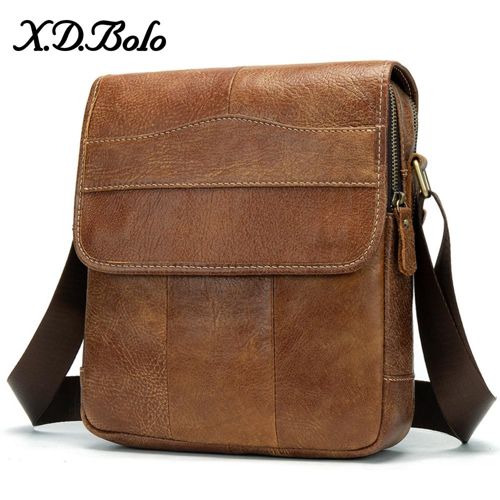 Messenger Bag MenS Shoulder Genuine Leather Bags Flap Small Male Man Crossbody Bags For Men Leather Bag