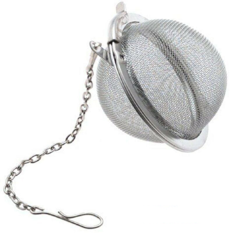 New Essential Tea Infusers Ball Mesh Filter Strainer Loose Leaf Herb Strainer Stainless Steel Secure Lock Home Kitchen Accessory