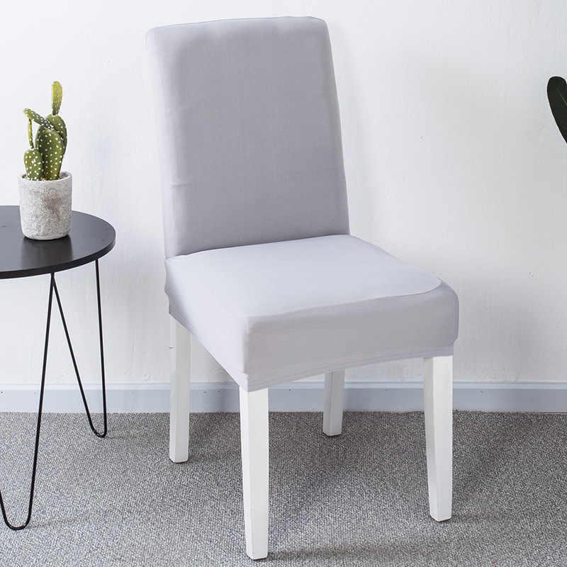 Cubierta para silla de LICRA de Color sólido para comedor funda de  deslizamiento de silla blanca elástica extraíble para restaurante de cocina
