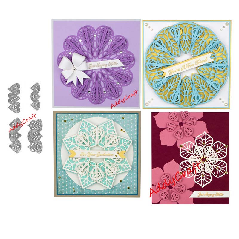 Metal Cutting Dies Overlapping Petals Cut Die Mold Decoration Scrapbook Paper Craft Knife Mould Blade Punch Stencils Die