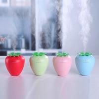 Strawberry Humidifier Cute USB Humidifier Handy Aroma Diffuser Humidifier with A Mini LED Light Fan